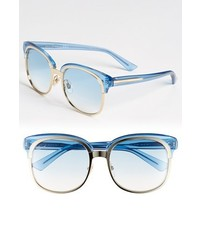 Gucci 56mm Sunglasses Gold Blue Sapphire One Size