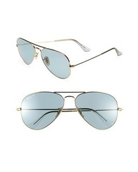 Ray-Ban Original Aviator 58mm Polarized Sunglasses Blue One Size