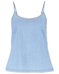 Even&Odd Vest Light Blue Denim