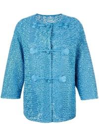 Ermanno Scervino Collarless Textured Jacket