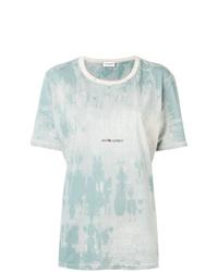 Saint Laurent Rive Gauche Tie Dye T Shirt