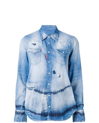 Dsquared2 Tie Dye Denim Shirt
