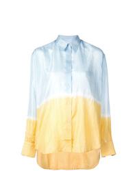 Light Blue Tie-Dye Dress Shirt