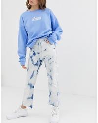 ASOS DESIGN Egerton Rigid Cropped Tie Dye Flare Jeans