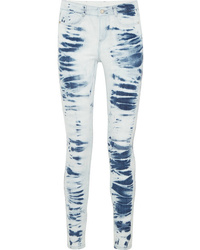 Light Blue Tie-Dye Skinny Jeans