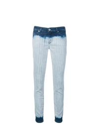 Diesel Black Gold Tie Dye Striped Skinny Jeans