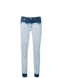 Diesel Black Gold Tie Dye Striped Skinny Jeans