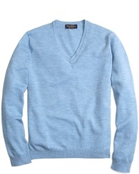 Light Blue V-neck Sweater