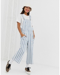Signature 8 Striped Denim Overalls