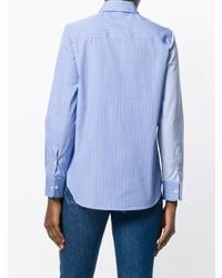 Golden Goose Deluxe Brand Bi Colour Stripe Asymmetric Shirt