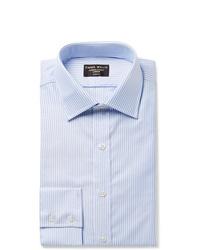 Emma Willis Blue Slim Fit Striped Cotton Oxford Shirt