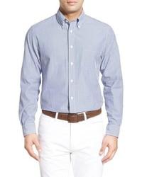 Regent fit stripe seersucker sport shirt medium 601439