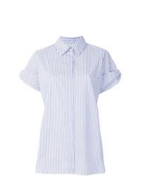 Victoria Victoria Beckham Layered Shortsleeved Striped Shirt
