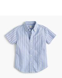 J.Crew Kids Short Sleeve Vintage Oxford Shirt In Stripe