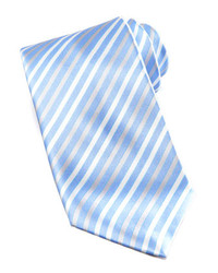 Light Blue Vertical Striped Tie