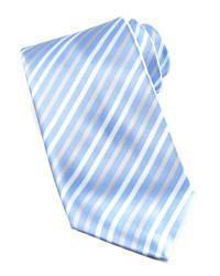 Light Blue Vertical Striped Tie