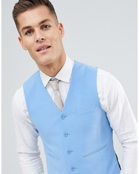 ASOS DESIGN Super Skinny Suit Waistcoat In Provence Blue