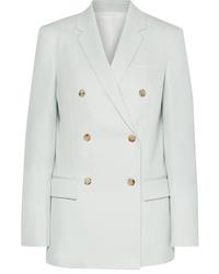 Light Blue Wool Double Breasted Blazer