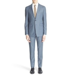 Light Blue Wool Suit