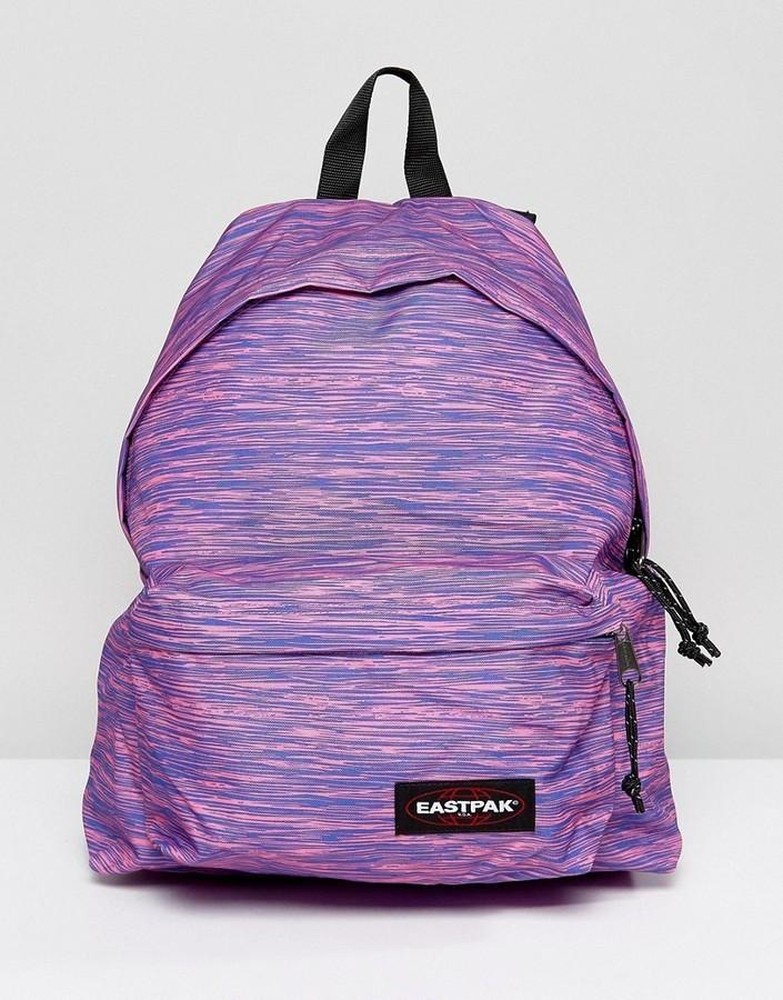 ... Eastpak Padded Pak R Backpack In Purple Marl ...