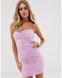 ASOS DESIGN Going Out Extreme Ruched Bandeau Mini Dress
