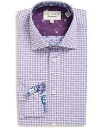 Ted Baker London Trim Fit Check Dress Shirt
