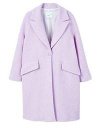 Mango Gallego Classic Coat Lilac