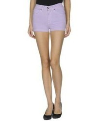 Light Violet Denim Shorts
