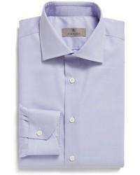 Canali Big Tall Regular Fit Solid Dress Shirt