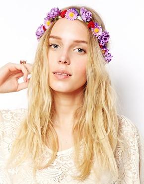 Asos Crochet Flower Headband Purple 71626f1ecbc