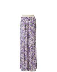 Twin-Set Floral Print Flared Trousers