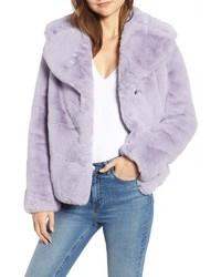 Light Violet Fur Jacket