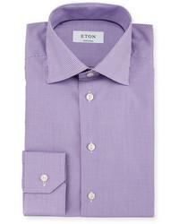 Light Violet Gingham Dress Shirt