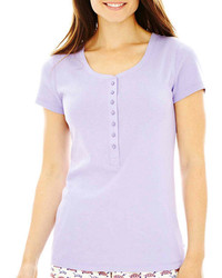 Light Violet Henley Shirt
