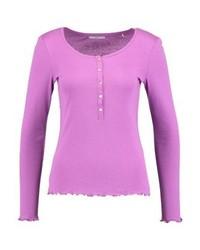 Esprit Frill Long Sleeved Top Violet