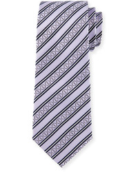 Light Violet Horizontal Striped Tie