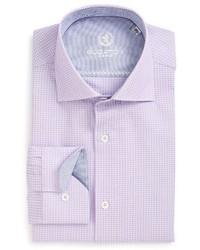Bugatchi Big Tall Trim Fit Houndstooth Dress Shirt