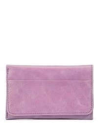Light Violet Leather Clutch