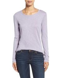 Light Violet Long Sleeve T-shirt