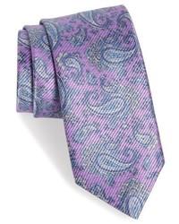 Light Violet Paisley Tie