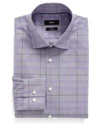 BOSS Ww Slim Fit Easy Iron Plaid Dress Shirt