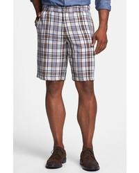 Light Violet Plaid Shorts
