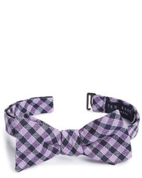 Ted Baker London Check Silk Wool Bow Tie