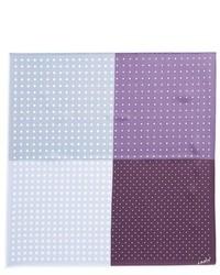 Light Violet Polka Dot Pocket Square