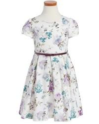 Luli & Me Floral Print Fit Flare Dress