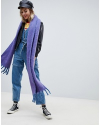ASOS DESIGN Bright Fluffy Tassel Scarf