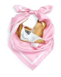 Moschino Paper Doll Bear Silk Scarf