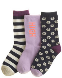 J.Crew Girls Trouser Socks Three Pack