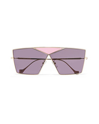 Loewe Puzzle Large Aviator Style Gold Tone Sunglasses