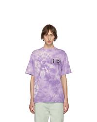Light Violet Tie-Dye Crew-neck T-shirt